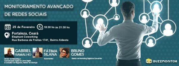 Monitoramento Avançado de Redes Sociais em Fortaleza - Buzzmonitor 25 Fev 18:30 - 21:30 - Elephant Coworking
